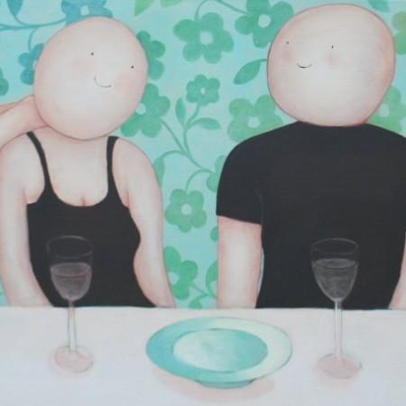 Uit de serie Vrienden aan tafel 70 x 150 cm