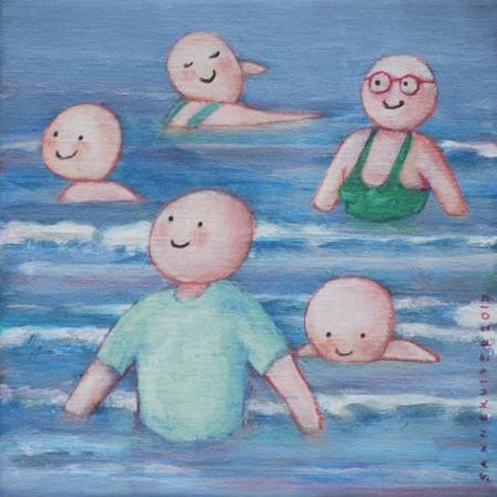 Zwemmen in zee