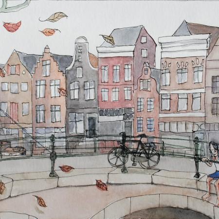 Illustratie stadstafereel